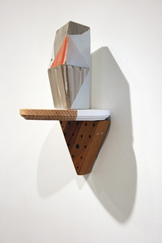 """Triangle Construction, 2011 Returned or mismixed vinyl housepaint on found wood 12 x 7.5 x 7"""""""
