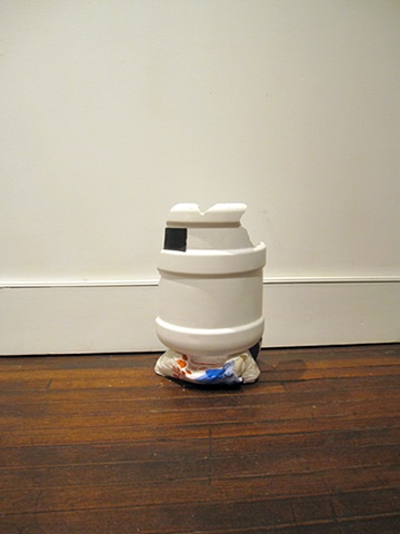 Cooler, 2012 Plaster, gym shorts, fast-food bag 17 x 11 x 7 inches