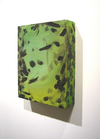 "Ashley Seelig, M.H., 2008 oil on canvas, 12x18x3"""