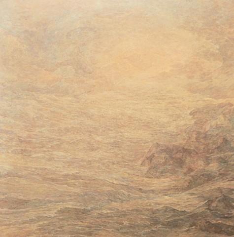 """Richard Iammarino, Ethereal Sea, 1983 oil on canvas, 66 x 66"""""""