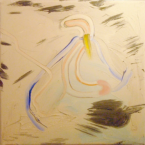 "Ashley Seelig, Untitled (Whoa 2), 2010 oil on canvas, 12x12x3"""