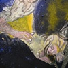 Sleeper (Detail), 2011 oil and tempera on canvas, 18x14""