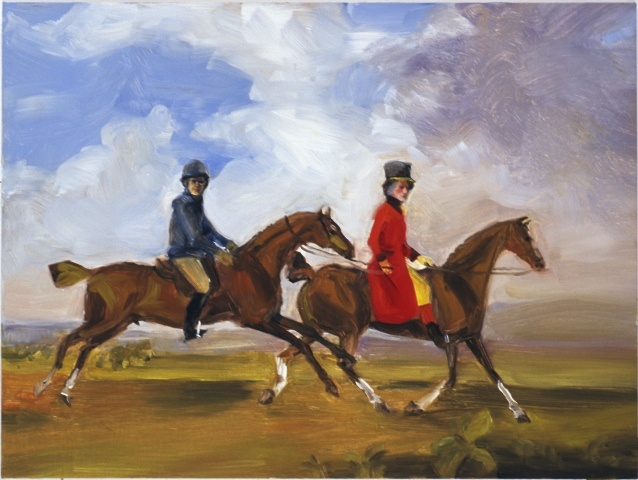 The Invisible Woman and William Anderson with Two Saddle Horses (after Stubbs)