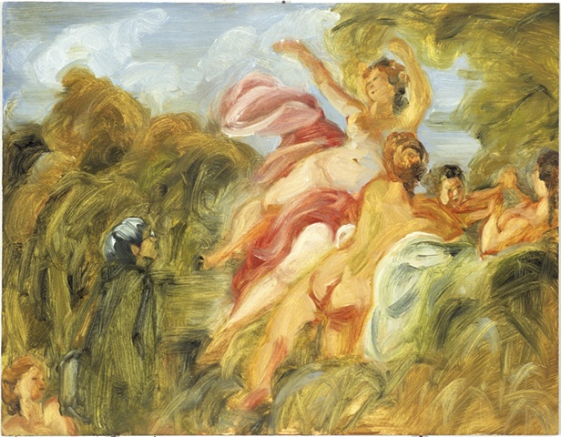 The Invisible Woman Looking at The Bathers (after Fragonard)