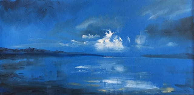 Blue imagined landscape
