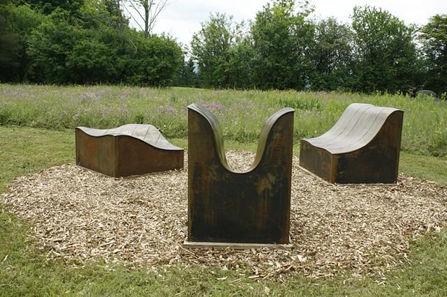 Installation view at Stone Quarry Hill Art Park, Cazenovia, NY