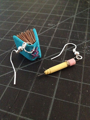 Earrings- Book with Pencil