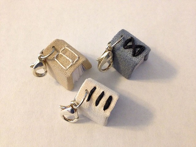 Charms with Exposed Stitching