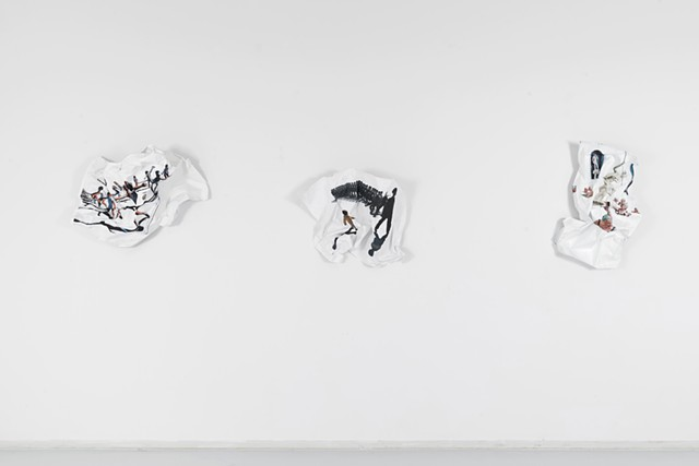 Crushed Paintings (Installation view)