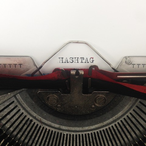Social Media, typewriter, analog, typing