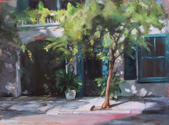 This painting is of a charming street view in downtown Charleston, SC that has always captured my attention.