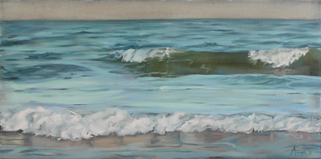 Evening Light on Waves - SOLD