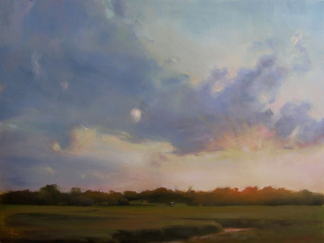 landscape painting of Charleston / James Island marsh