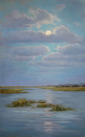 Commission: Moonrise over Morris - SOLD