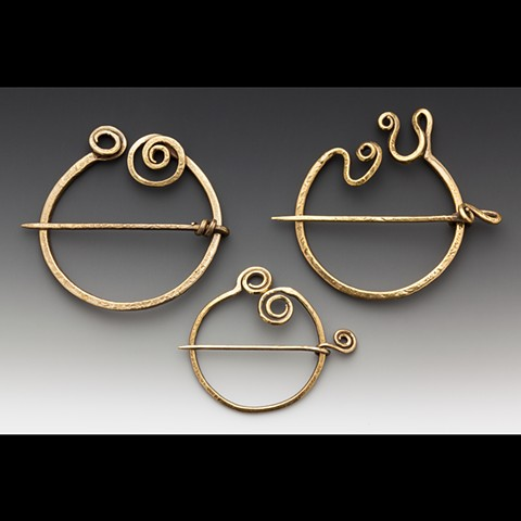 Handmade Unique Penannular Pins