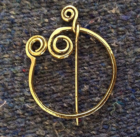 Unique Bronze Penannular Pin