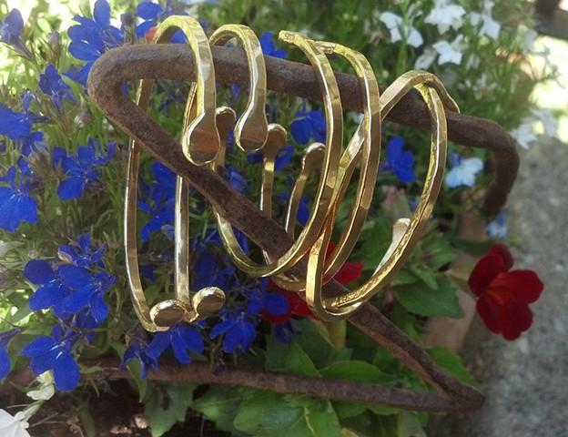 Forged & Hammered Bronze Cuff Bracelet