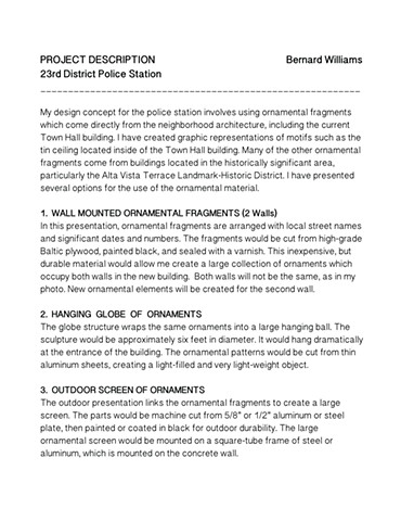 Police Station Proposal Project Description