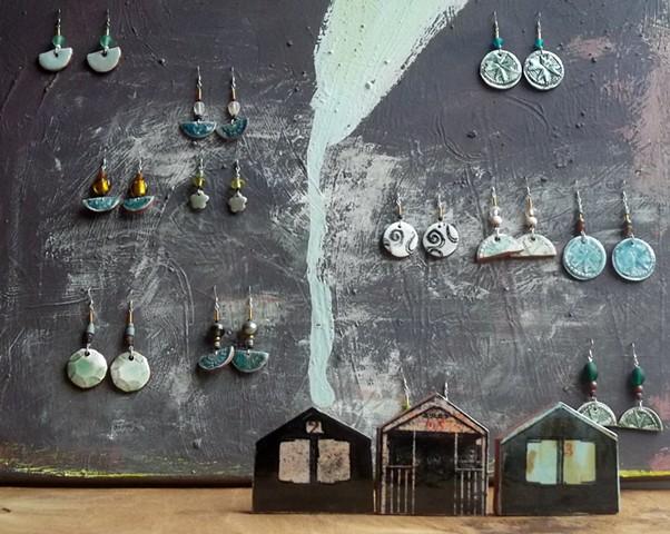 Earrings and beach huts