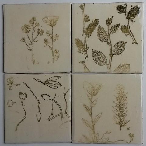 Botanical tiles smaples