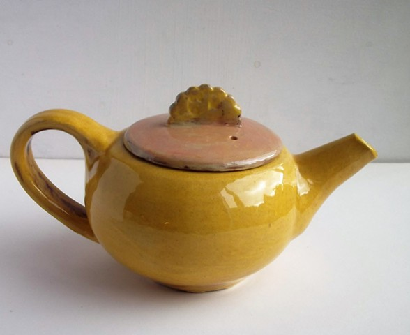 small yellow teapot