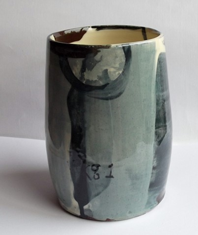 blue abstract vase