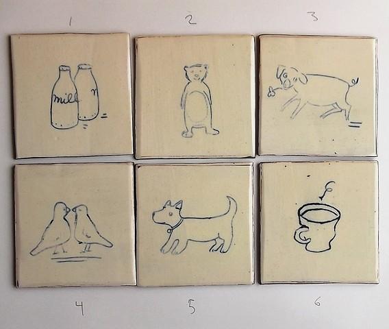 A Tiles 1 - 6