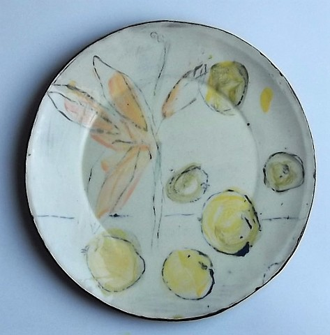 dinner plate with fruit
