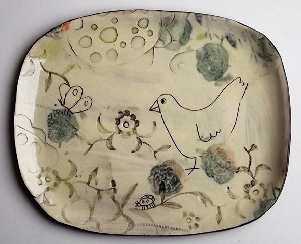 bird bush plate