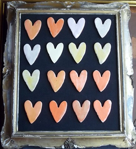 Fridge magnet hearts