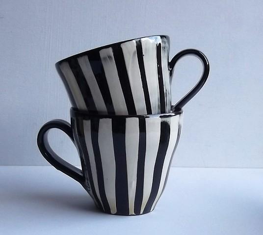 stripy cups