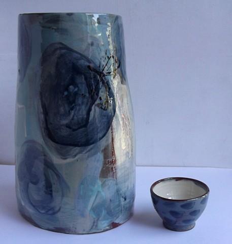 vase and tiny bowl