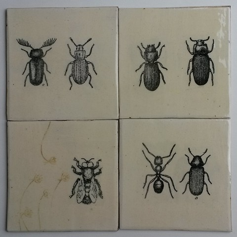 Tiles with insects