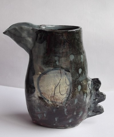 crazy bird vase