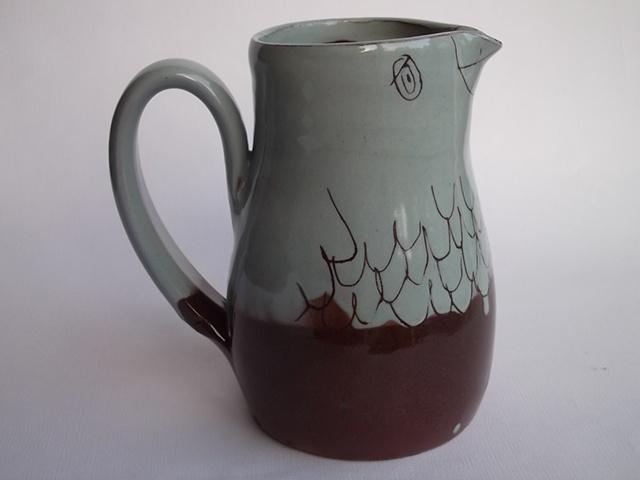 149. blue bird jug