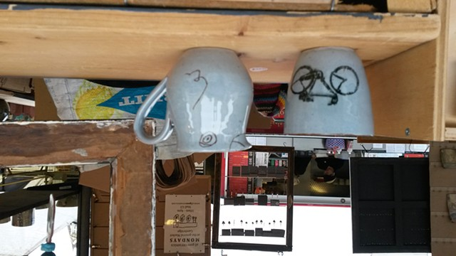 Bike beakers and blue bird jugs