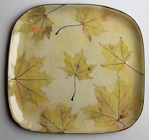 autumn leaves platter