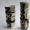 shot cups with numbers