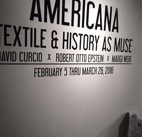 "From ""Americana: History and Textile as Muse"" at Artspace, Raleigh, NC"