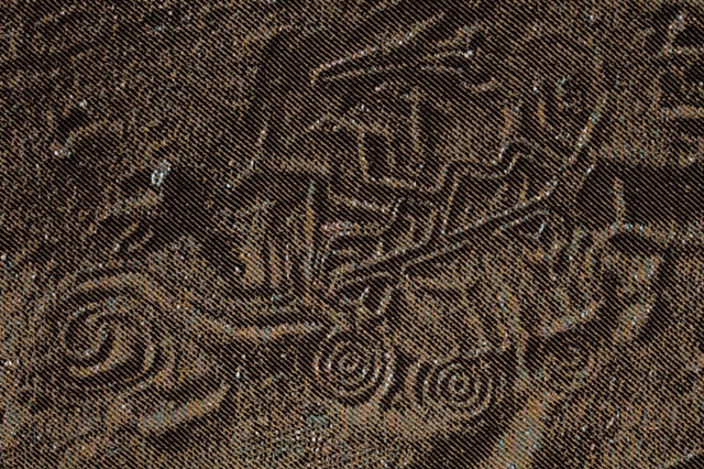 """detail of """"Footprints on the Sands of Time"""""""