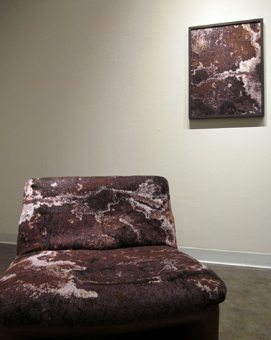 """""""Reflection"""" (on wall) & """"Reflected"""" (on chair)"""