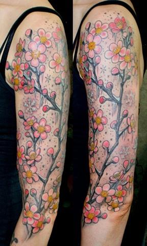 Chantal's wintery cherry blossoms