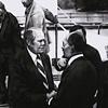 November 2nd, 1975 President Gerald Ford greets Egyptian president Anwar Sadat in Florida