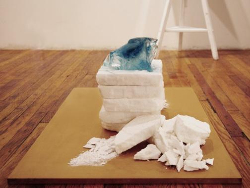 salt and ice sculpture