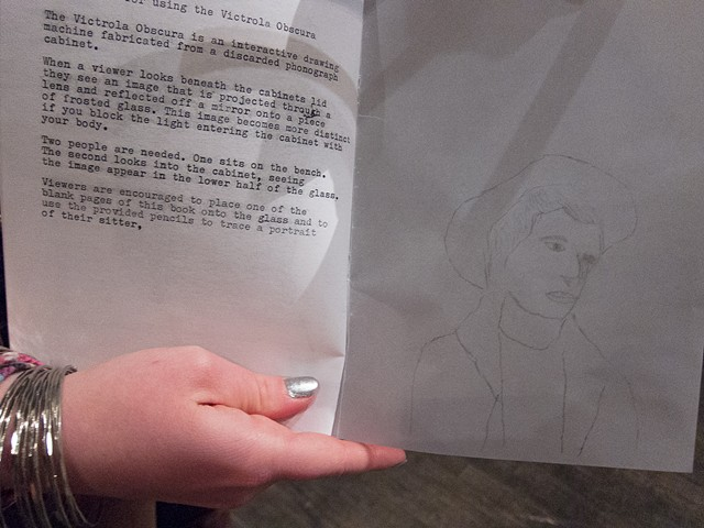 Victrola Obscura Drawing / Zine