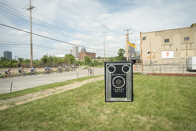 The camera obscura, Brownie In Motion, installed outside the Columbus Idea Foundry in Columbus, Ohio