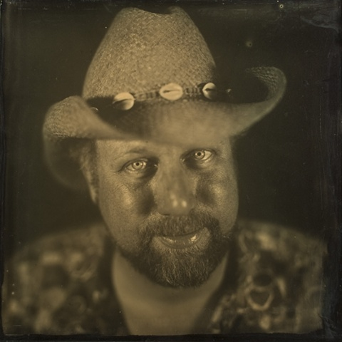 """This work is a 16 x 16 inch ambrotype shot in-camera by Stephen Takacs as part of the series """"a case study of stephen."""""""