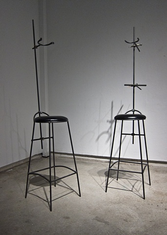 Stephen Takacs, operatingroomstudio, installation, art, photography, oregon college of art and craft, ocac, ULF, cameras, camera obscura, neck brace, modelling stands, chair, chairs, long exposure
