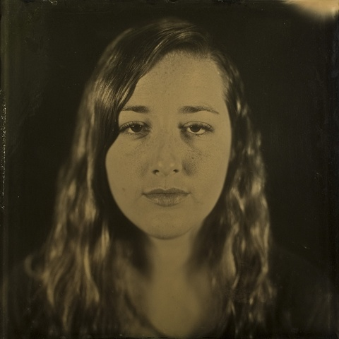 "Makensie Stephen is a 16 x 16 inch ambrotype created by Stephen Takacs as part of the series ""a case study of stephen."""