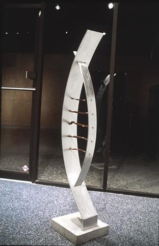 outdoor mixed media aluminum sculpture